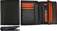 LEATHER BUSINESS CARD HOLDER WALLET NAPA HIGH GAM LUX