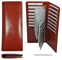 LEATHER CARD FOR UP TO 24 CARDS CAPACITY.