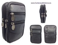 LEATHER COVER BAG TO CARRY WAIST WITH FOUR POCKETS