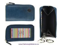 LEATHER HEY CHAIN AND PURSE  CARD HOLDER