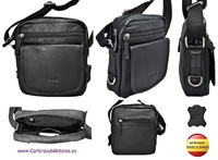 LEATHER MAN BAG URBAN CASUAL STYLE