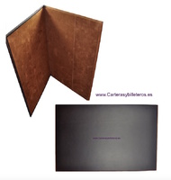 LEATHER PORTFOLIO ON THE TABLE MADE IN SPAIN