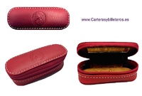 LEATHER SHEATH CARRY FOR LIPSTICK WITH MIRROR