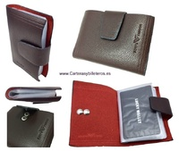 LEATHER WALLET CARD HOLDER 26 CARDS