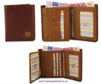 LEATHER WALLET CARD TWO TONE
