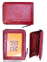 LEATHER WALLET HOLDER OF THE MARK OMMO WITH BELLOWS