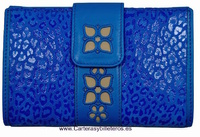 LEATHER WALLET WOMAN PURSE AND CARD FOLDER