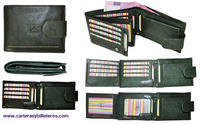 LEATHER WALLETS FOR MEN WITH LUXURY LEATHER EXTERIOR CLOSURE