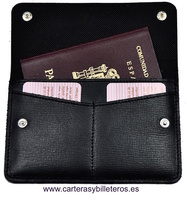 LEATHER WITH MANY USES DOUBLE CARD FOLDER