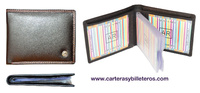 LUXURY LEATHER WALLET CARD DOUBLE STICHING