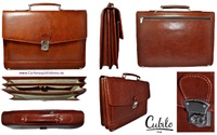 Leather Briefcase LUXURY BRAND FINISHING cow CUBILO