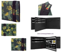 MAN CAMOUFLAGE PORTFOLIO IN ELASTIC CLOSURE LEATHER