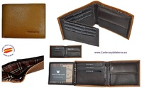 MAN CARDFOLDER BRAND BLUNI TITTO MAKE LEATHER MADE IN SPAIN