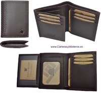 MAN WALLET BRAND BLUNI TITTO MAKE IN LUXURY LEATHER 10 CREDIT CARDS