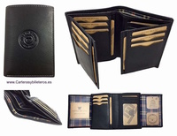 MAN WALLET BRAND BLUNI TITTO MAKE IN LUXURY LEATHER 17 CREDIT CARDS