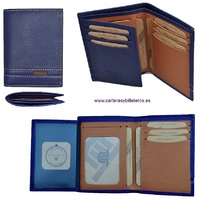 MAN WALLET BRAND BLUNI TITTO MAKE IN LUXURY LEATHER FOR 10 CREDIT CARDS
