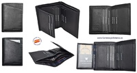 MAN WALLET BRAND BLUNI TITTO MAKE IN LUXURY LEATHER FOR 9 CREDIT CARDS