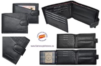 MAN WALLET BRAND BLUNI TITTO MAKE IN LUXURY LEATHER  GRAPHITEC