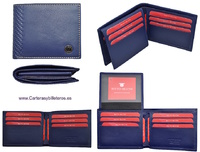 MAN WALLET BRAND BLUNI TITTO MAKE IN LUXURY LEATHER MADE IN SPAIN