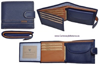 MAN WALLET BRAND BLUNI TITTO MAKE IN LUXURY LEATHER