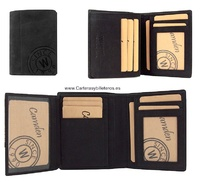 MAN WALLET CARD FOLDER  IN OLI FINISHED LEATHER