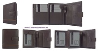 MAN WALLET  OF NAPPA  LEATHER  WITH  CARD HOLDER AND PURSE