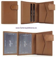 MAN WALLET WITH PURSE AND OUTER CLOSURE