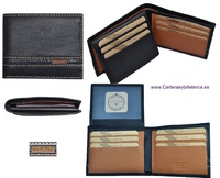 MAN WALLETS BRAND BLUNI TITTO MAKE LUXURY LEATHER MADE IN SPAIN