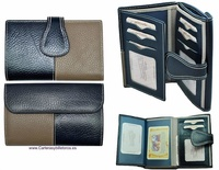 MEDIO WALLET WOMEN'S WITH A LEATHER BOW  MADE IN SPAIN