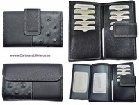 MEDIUM WOMEN'S WALLET WITH TWO LEATHER FINISHES MADE IN SPAIN