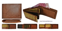 MEN'S LEATHER WALLET WITH CLOSURE AND PURSE