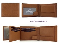 MEN'S LEATHER WALLET WITH MEDIUM PURSE