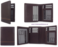 MEN'S WALLET SKIN CARDBOARD WITH LEATHER DECOR
