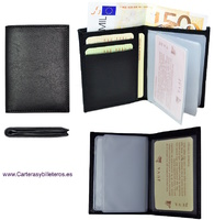 NAPPA LEATHER CARD HOLDER FOR 10  CREDIT CARDS OR CARNETS