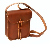 OILED LEATHER BAG SMALL UNISEX