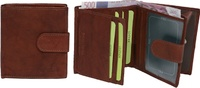 PORTFOLIO BILLFOLD OF SKIN FOR MAN WITH STRAP CLOSURE TO PRESSURE