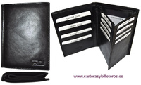 PORTFOLIO PORTA DOCUMENTS OF LEATHER WITH BILLFOLD
