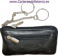 PURSE KEYCHAIN DOUBLE SKIN NAPA BRAND OMMO LUX