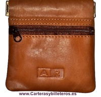 PURSE LOCKING LEATHER STRAP AND ZIP POCKET