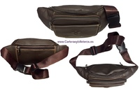 QUALITY LEATHER BAG FOR WAIST WITH FOUR  POCKETS