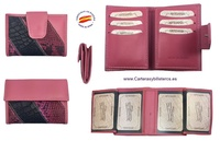 SMALL AND COMPLETE WOMEN'S WALLET IN SNAKE LEATHER