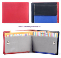 SMALL LEATHER WALLET WITH OUTER PURSE
