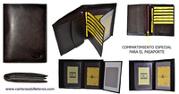 TRAVEL CARD LEATHER WALLET PASSPORT WITH GREAT FOR PURSE