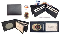 UBRIQUE LEATHER CIVIL PROTECTION WALLET HOLDER WITH WALLET
