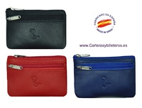 UBRIQUE LEATHER PURSE WITH A POCKET - 5 COLORS -