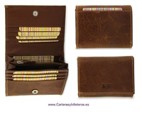 WALLET CARDFOLDER LEATHER WITH PURSE LEATHER FINISHING MAMMOTH