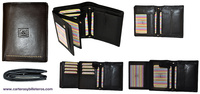 WALLET DOUBLE COMPARTMENT LEATHER WALLET MENS LUXURY