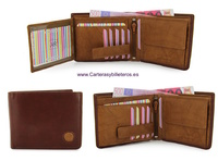 WALLET LEATHER WALLET CARD TWO TONE  STUCO