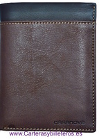 WALLET MAN WITH CARD IN TWO KINDS OF CALSKIN LEATHER