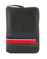 WALLET MAN ZIPPER AMERICAN NAVY RED WITH PURSE